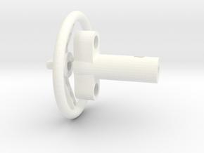 F150 Interior 058023-01 Tamiya F150 Wheel & Column in White Processed Versatile Plastic