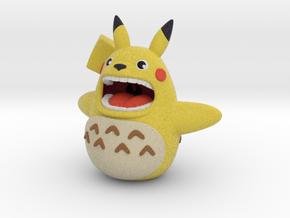 Pikachu + Totoro in Natural Full Color Sandstone