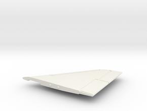 A-4E-144scale-02-RightWing-SlatsUp in White Natural Versatile Plastic