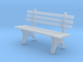 Park Bench N scale in Smooth Fine Detail Plastic