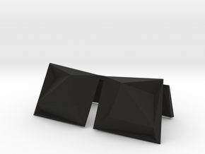 Origami Cufflinks in Black Natural Versatile Plastic
