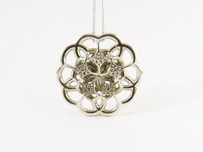 The Flower in Polished Silver