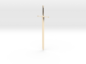 Ice - Ned Stark's Sword -  Game Of Thrones in 14k Gold Plated Brass