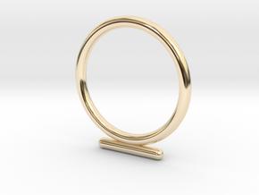 Umlaut 4 - ō in 14k Gold Plated Brass: 3 / 44