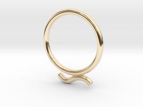 Umlaut Ring 2 - õ in 14k Gold Plated Brass: 3 / 44