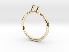 Umlaut 3 - óó in 14k Gold Plated Brass: 3 / 44