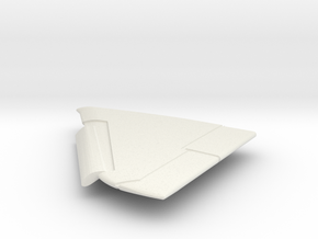 A-4M-144scale-05-LeftWing-SlatsDown in White Natural Versatile Plastic