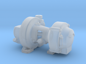 """1:16 Scale Pyle Type """"K2"""" Steam Turbo Generator in Smooth Fine Detail Plastic"""