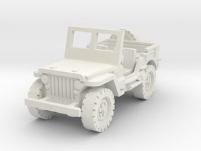 Jeep Willys scale 1/87 in White Natural Versatile Plastic