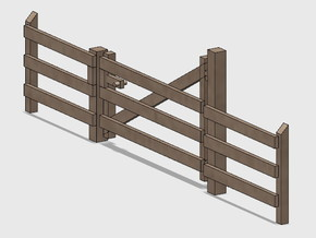 Wood Gate - L-Out Swing (HO) in Smooth Fine Detail Plastic: 1:87 - HO