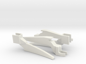 75mm Legs Extenders for DJI Mavic Air in White Natural Versatile Plastic