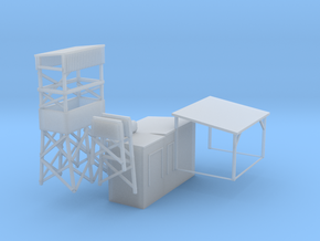 'N Scale' - Coal Mine Structure in Smooth Fine Detail Plastic