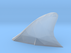 O Scale Shark fin in Smooth Fine Detail Plastic