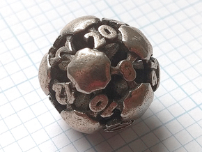 Chord Die20 in Polished Bronzed-Silver Steel