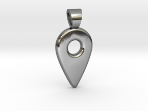 HERE ! [pendant] in Polished Silver