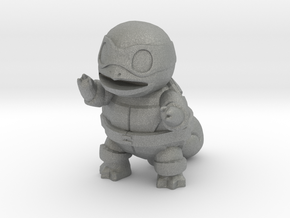 "Ninja Squirtle, 1"" figurine in Gray PA12"