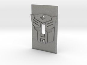 Autobot Faction Symbol Light Switch Plate in Gray Professional Plastic