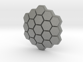 Hexagonal Energy Shield, 5mm grip in Gray Professional Plastic