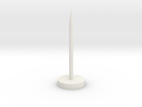 "Super Long Flat Thumbtack (1"" Long) in White Natural Versatile Plastic"