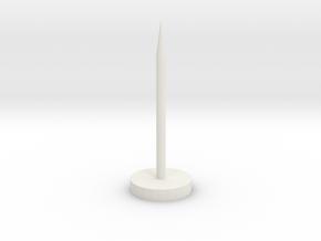 """Super Long Flat Thumbtack (1"""" Long) in White Natural Versatile Plastic"""