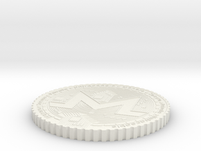 Monero Coin #2 in White Natural Versatile Plastic