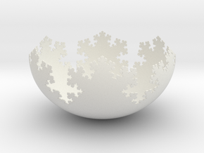 L-System Fractal Bowl in White Natural Versatile Plastic