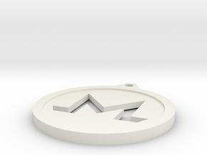 Monero Keychain in White Natural Versatile Plastic