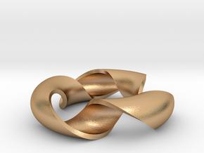 pendant toroidal geodesic shell 1 3 in Natural Bronze