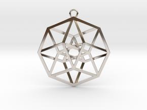 4D Hypercube (Tesseract) in Platinum