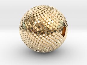 Fibonacci Sphere - brass in 14k Gold Plated Brass
