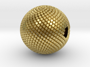 Fibonacci Sphere - brass in Natural Brass