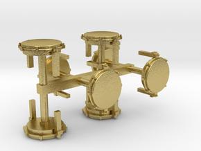 Rundverteiler 64er 8erSet 1:120 TT in Natural Brass