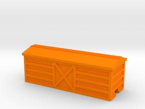 Steel Boxcar in Orange Processed Versatile Plastic