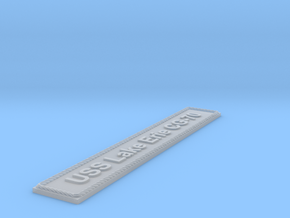 Nameplate USS Lake Erie CG-70 in Smoothest Fine Detail Plastic