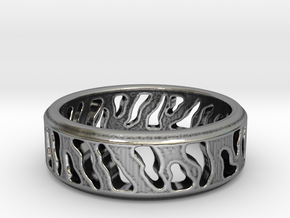 Tiger Stripe Ring in Antique Silver: 5 / 49