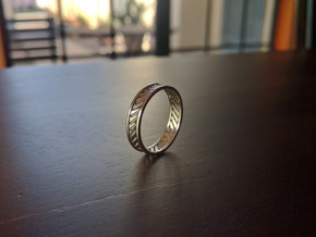 Banded Silver Ring in Polished Silver