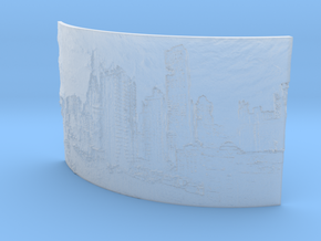 Apocalyptic City Curved Lithophane in Smooth Fine Detail Plastic