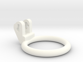 New Fun Cage - Ring - 48mm - Circular in White Processed Versatile Plastic