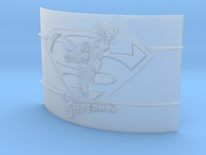 Superman Curved Lithophane in Smooth Fine Detail Plastic