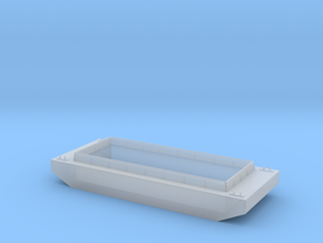 S Scale Barge in Smooth Fine Detail Plastic