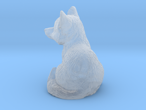 O Scale Cute Fox in Smooth Fine Detail Plastic