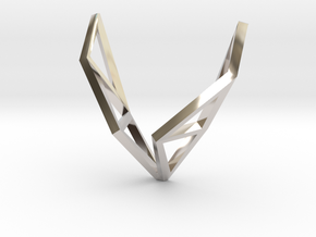 sWINGS Structura, Pendant in Rhodium Plated Brass