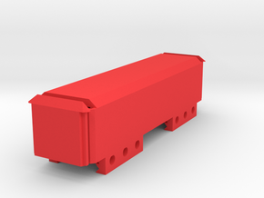 Stick Battery Box (100mm) for 7.4v LiPo in Red Processed Versatile Plastic