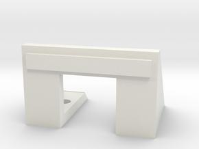 Simple Buffer oo gauge  in White Natural Versatile Plastic