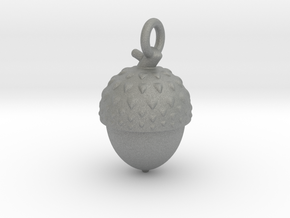 Acorn necklace in Gray PA12