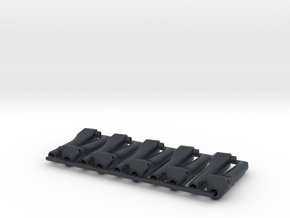 10x Push Rod mounts v.1.2 / 10º (Mirror) in Black Professional Plastic