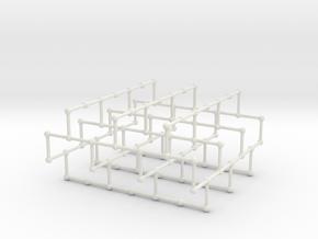 Haugland's grid subgraph no. 1 in White Natural Versatile Plastic