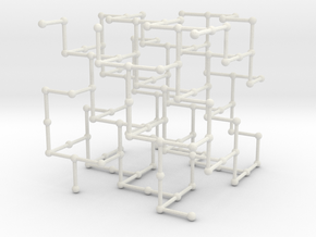 Haugland's grid subgraph no. 3 in White Natural Versatile Plastic