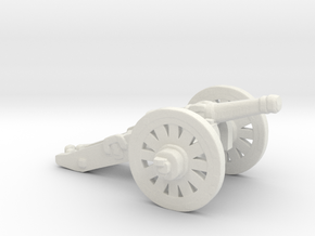O Scale Cannon in White Natural Versatile Plastic