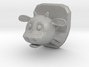 Mounted Cow Head in Aluminum